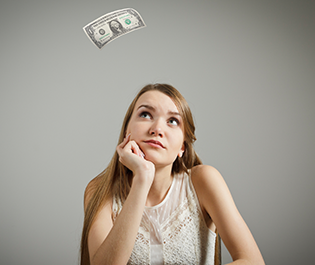 Financial Advisor Thinking About Money